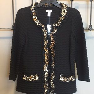 NWT $129 Chico's Animal Print Sweater Cardigan